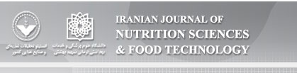 Iranian Journal of  Nutrition Sciences & Food  Technology